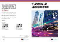 Transaction and advisory services brochure
